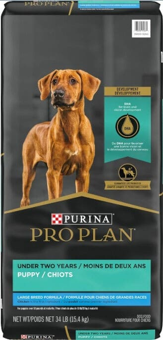 Purina Pro Plan Puppy Large Breed Chicken & Rice Formula with Probiotics Dry Dog Food