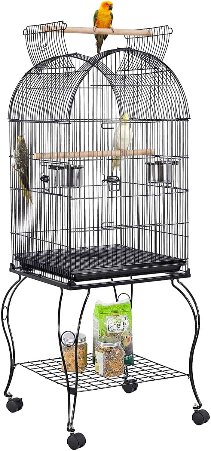 Yaheetech Dome Open Top Parrot Bird Cages