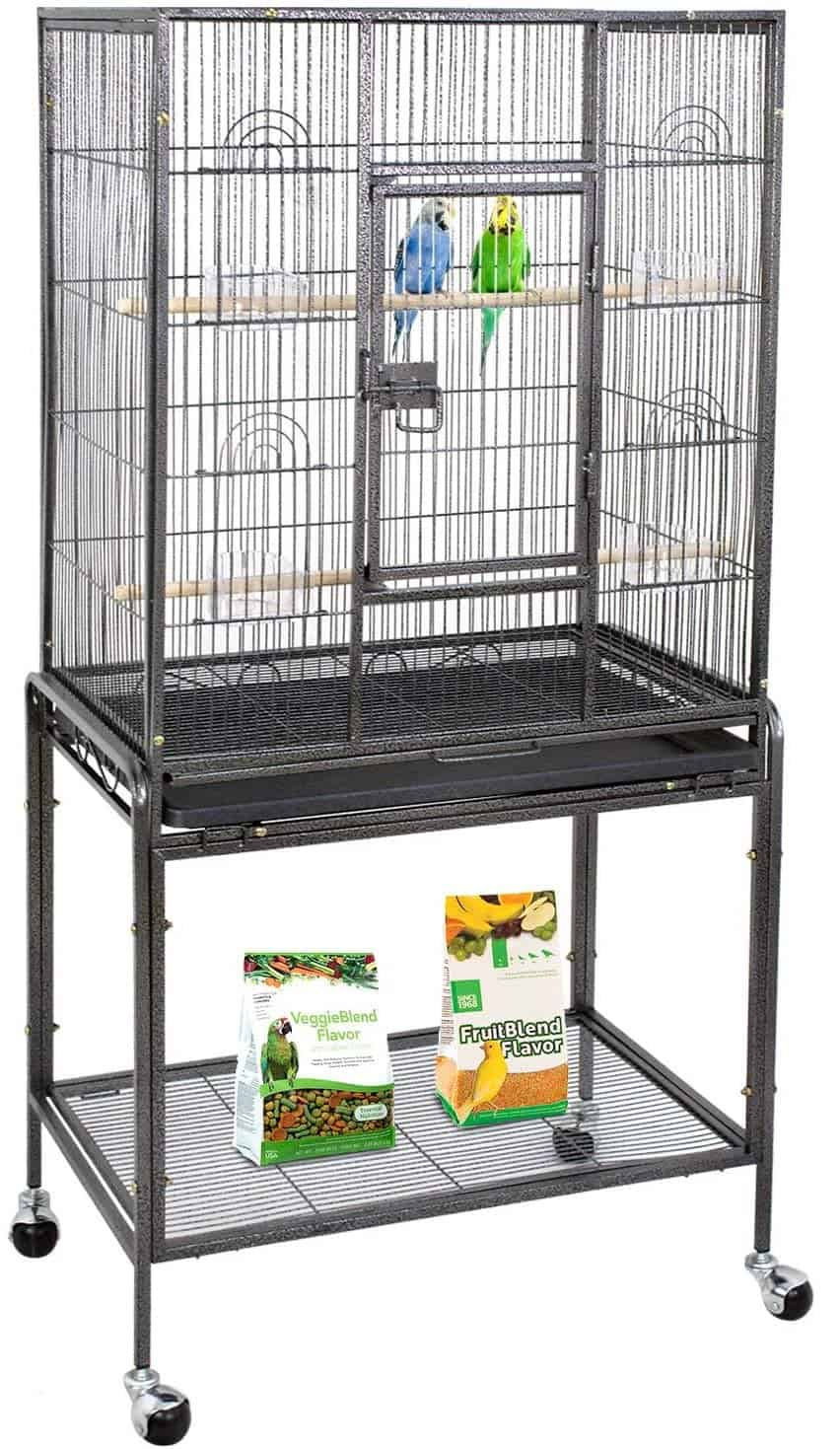 ZENY Bird Cage with Stand Wrought Iron Construction
