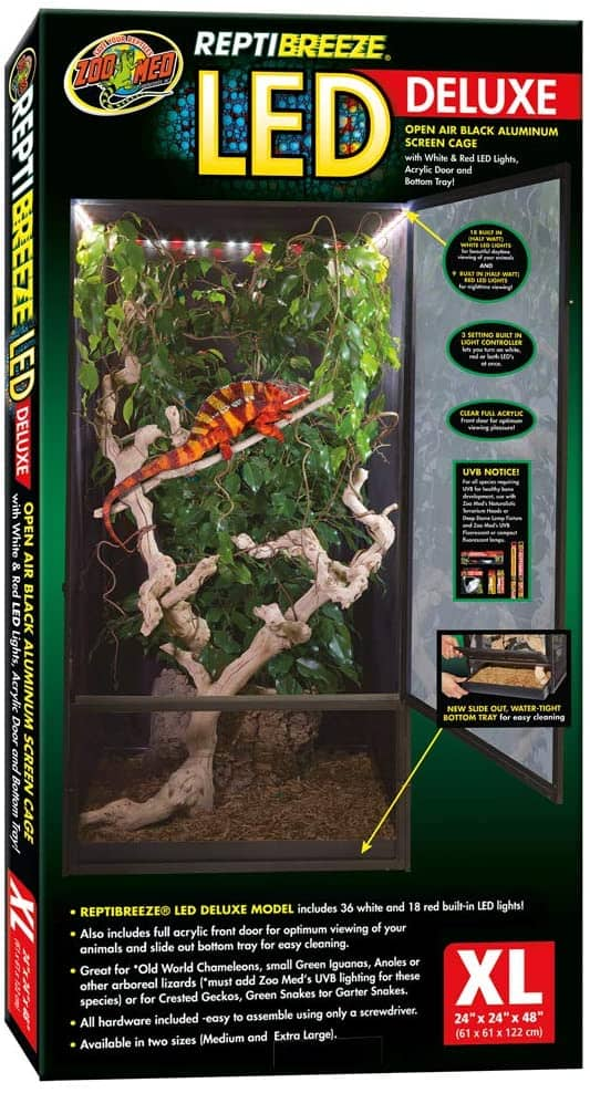 Zoo Med Reptibreeze Deluxe Led Open-air Cage