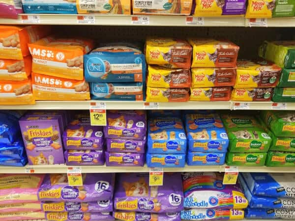 Wilmington, Delaware, U.S - October 10, 2020 - Variety of cat foods on the shelves