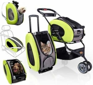 cat stroller and backpack